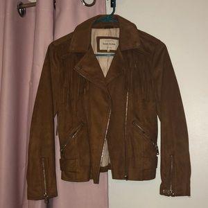 Brown fringe jacket